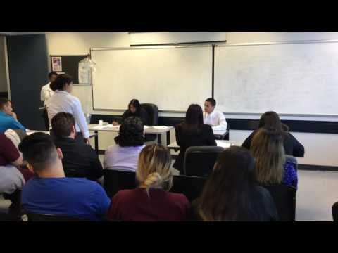 Shakira and Saul VS. Odalis UEI College El Monte Criminal Justice students mock trial