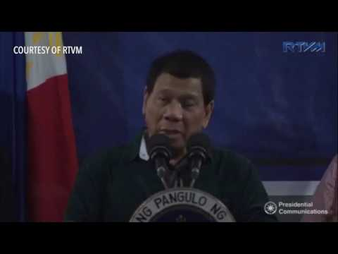 Duterte promises to back soldiers during martial law, jokes about rape