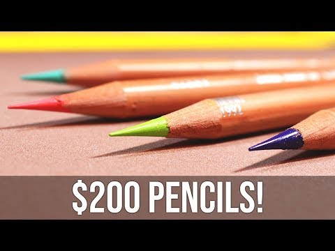 MOST EXPENSIVE COLORED PENCILS EVER... Are they WORTH IT?