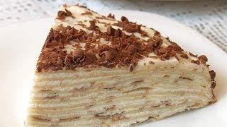 Блинный торт с кремом. GuberniaTV