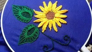 Hand Embroidery Honeycomb Stitch Flowers Bordados A Mano Flores