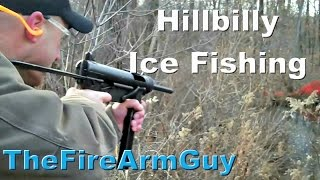 Hillbilly Ice Fishing With A $25,000 Gun - Thefirearmguy