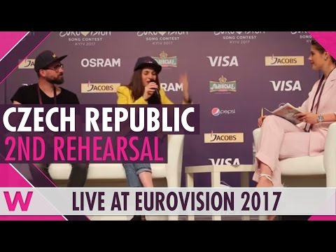 "Czech Republic Press Conference 2 — Martina Barta ""My Turn"" Eurovision 2017 
