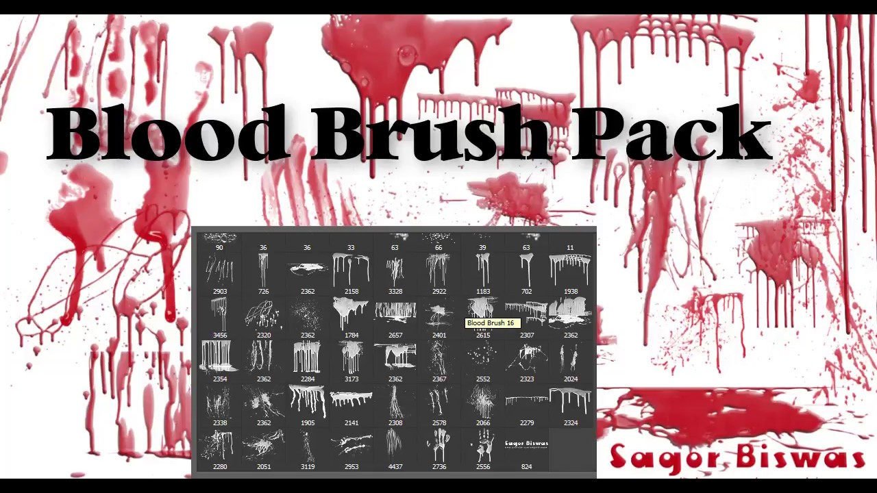40 Blood And Splatter Brushes Free Photoshop Brushes At Sagor Biswas Youtube Add dynamic elements to brushes. 40 blood and splatter brushes free