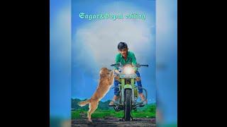 Dog and bullet photo editing by PicsArt Sagar & Gopal editing બુલેટ ફોટો બનાયે