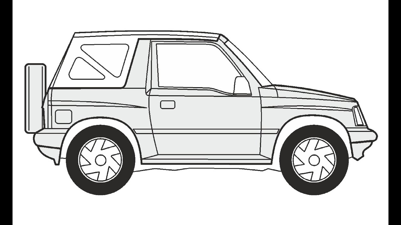 How To Draw A Suzuki Vitara Cabrio