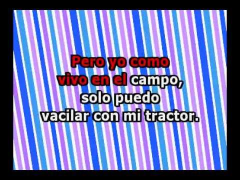 El Tractor Amarillo con letra -  Zapato Veloz (Karaoke)