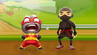 WHO CAN WIN? SUBWAY SURFERS VS MY TALKING TOM HERO?
