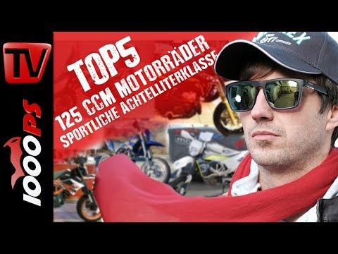 Top 5 125 ccm Motorräder - Sportliche Achtelliterklasse