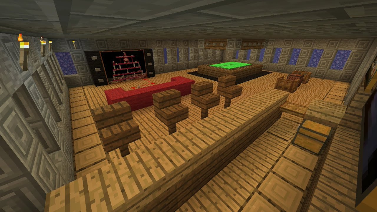 Minecraft Tutorial How To Make An Awesome Man Cave Survival House