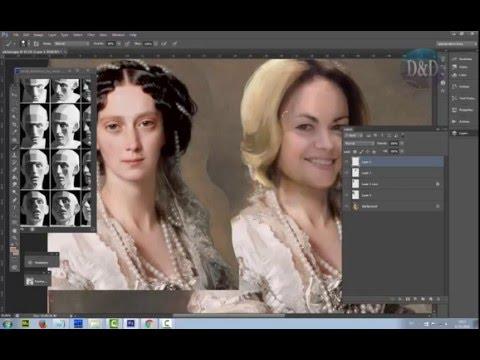 Обработка фото в стиле масляной живописи