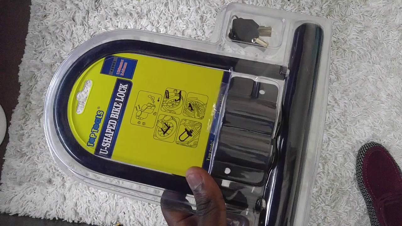How To Attach And Lock Your Bike Using A U Shaped Bike Lock Youtube