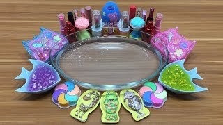 Mixing Makeup and Clay into Clear Slime #2 | Satisfying Slime Videos | Mickey Slime