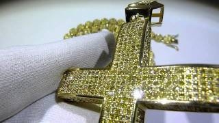 lemonade combo 14 lab made yellow diamond pave cluster chain temple ring convex cross gucci