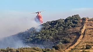 feux de foret Artigues Var le 25 juillet 2017