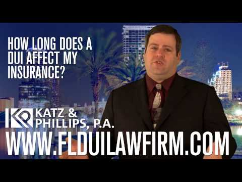 How long does a DUI affect insurance?