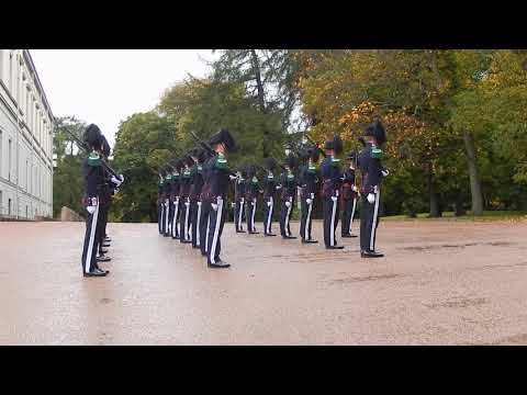 Changing of the Guard at the Royal Palace in Oslo, Norway