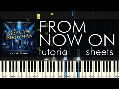 The Greatest Showman - From Now On - Piano Tutorial + Sheets