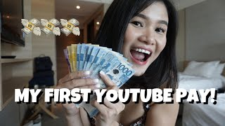 MY FIRST YOUTUBE PAY + Steps on how to MONETIZE your YouTube Channel