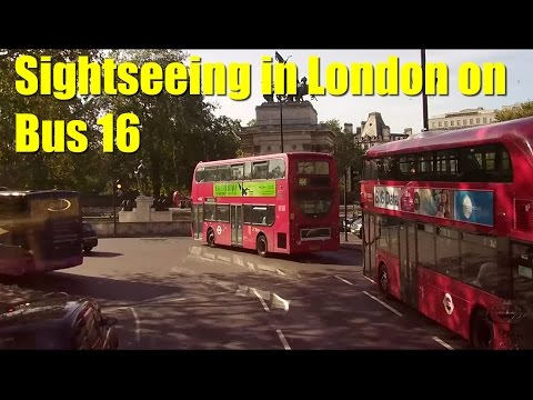 Sightseeing in London from Bus 16