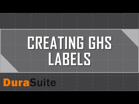 Create GHS Labels with DuraSuite