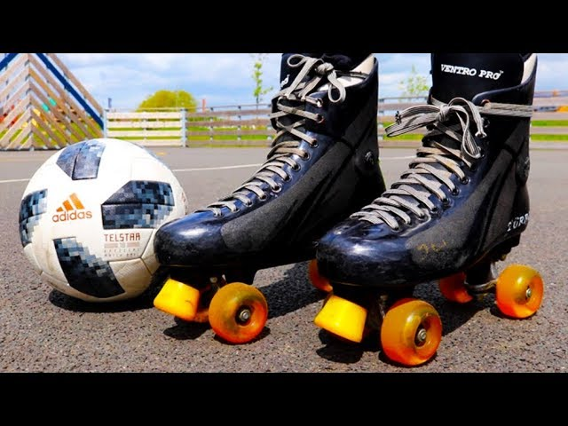 PLAYING FOOTBALL ON ROLLER SKATES! (Don't Try This At Home) - YouTube