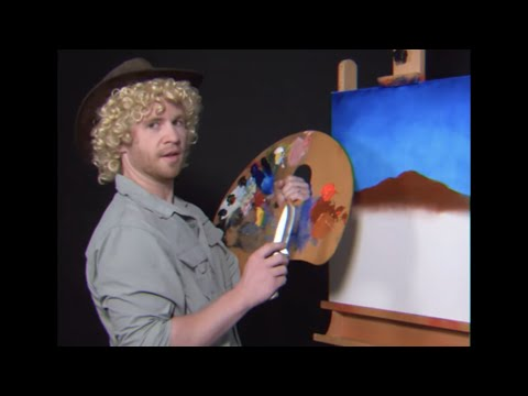 Let's PAINT with AUSSIE BOB ROSS! - Parody Painting