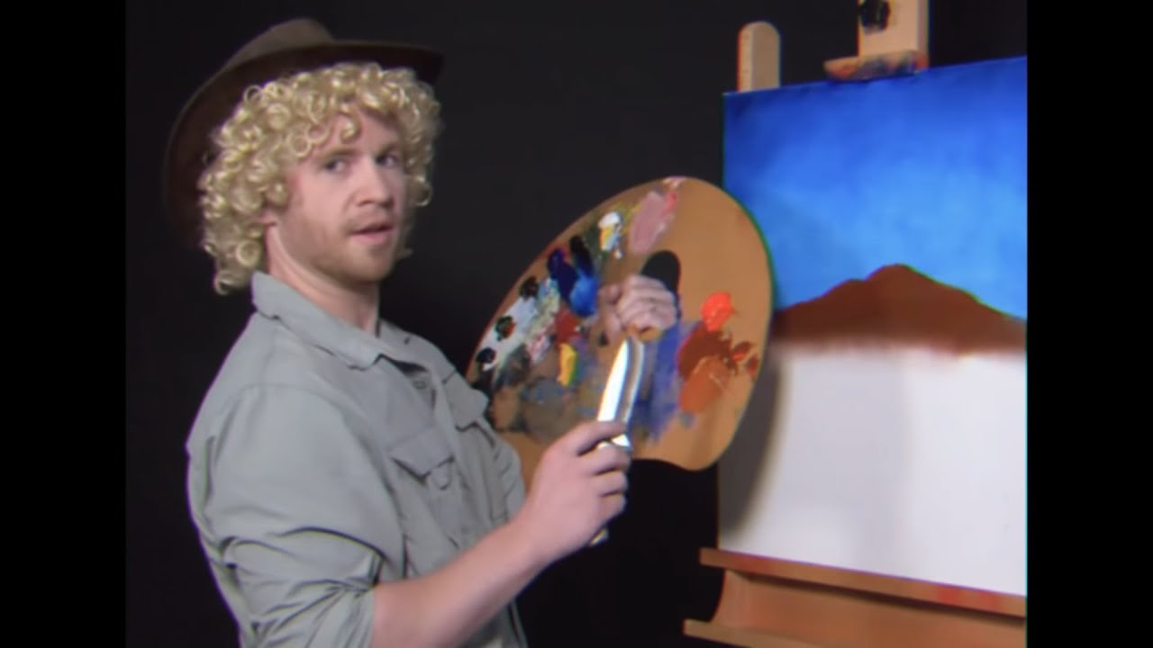 Phim22 video let 39 s paint with aussie bob ross parody for Draw with jazza mural