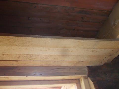 видео: стройка дома теплый пол потолок своими руками