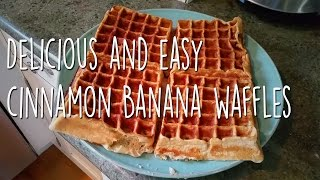 Easy Cinnamon Banana Waffles