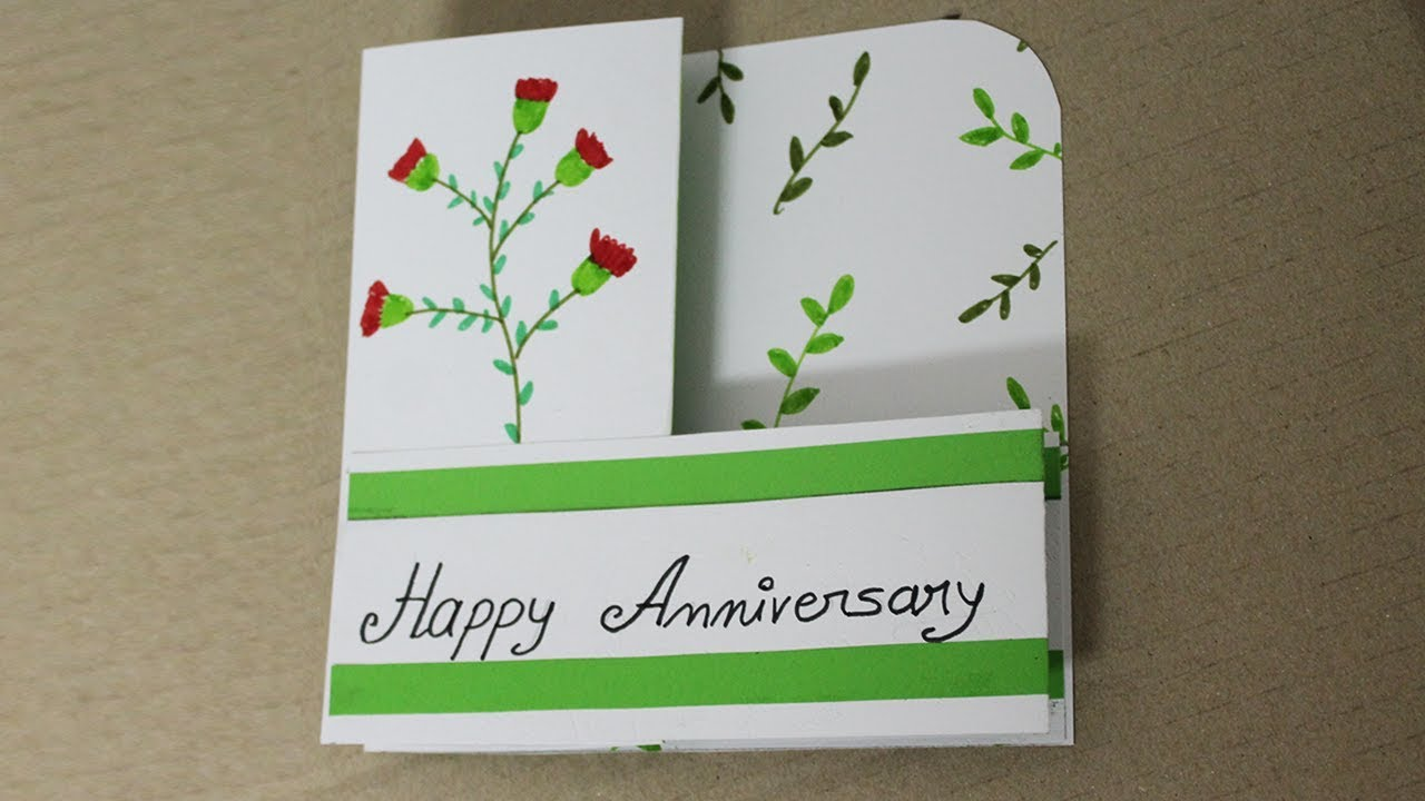 Diy Anniversary Card For Parents Handmade Cards For Anniversary