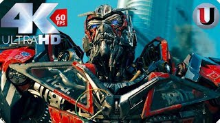 Transformers 3 Dark of the Moon Optimus Prime vs Sentinel Prime & Megatron Scene (4K)