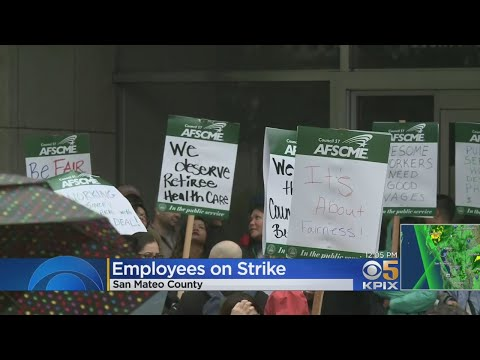 San Mateo County Workers Start Two-Day Strike