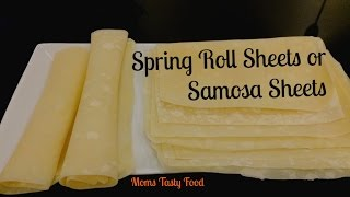 Homemade Spring Roll Sheets | How to Make Easy Simple Multipurpose Wrappers