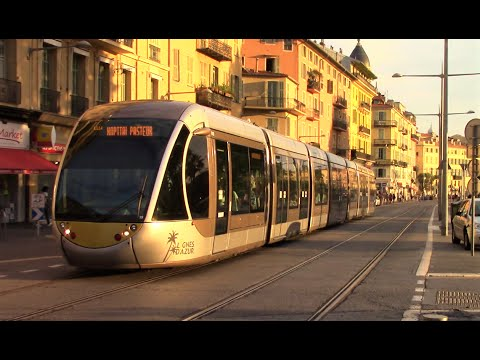 Trams in Nice, France - July 2016