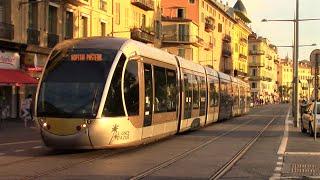 Trams in Nice, France - July 2016