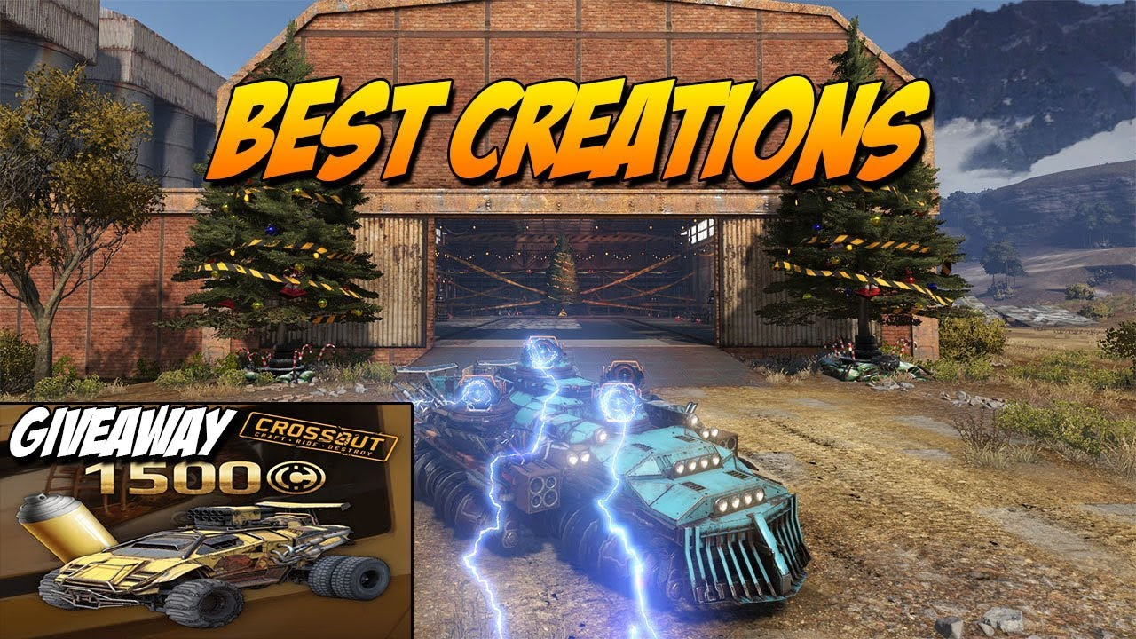 Crossout Best Creations + Crossout Giveaway | Quad spark and aircraft  carrier etc