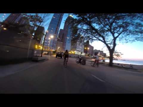 Bike Ride Chicago | Adler Planetarium to Fullerton & Ashland | GoPro Hero 3+