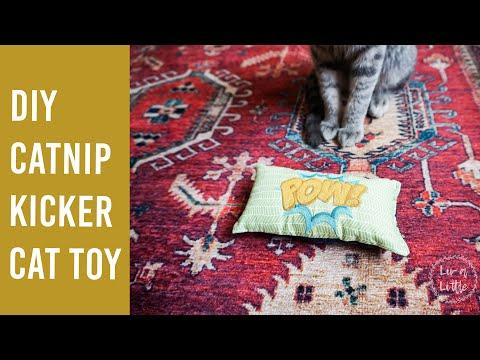 DIY Embroidered Catnip Kicker Cat Toy
