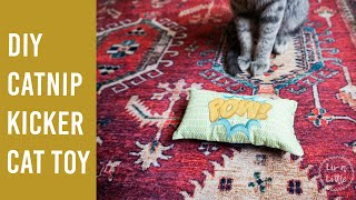 DIY Embroidered Catnip Kicker Cat Toy