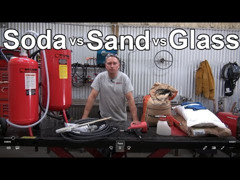 Soda Vs Sand Vs Glass Blasting - Redline Nova Build Video 9