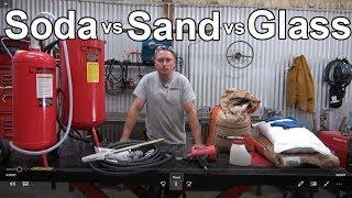 Soda vs Sand vs Glass Blasting - Redline Nova Build Video 9