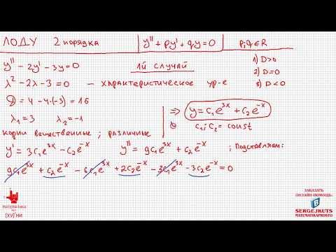 ЛОДУ 2 порядка C постоянными коэффициентами