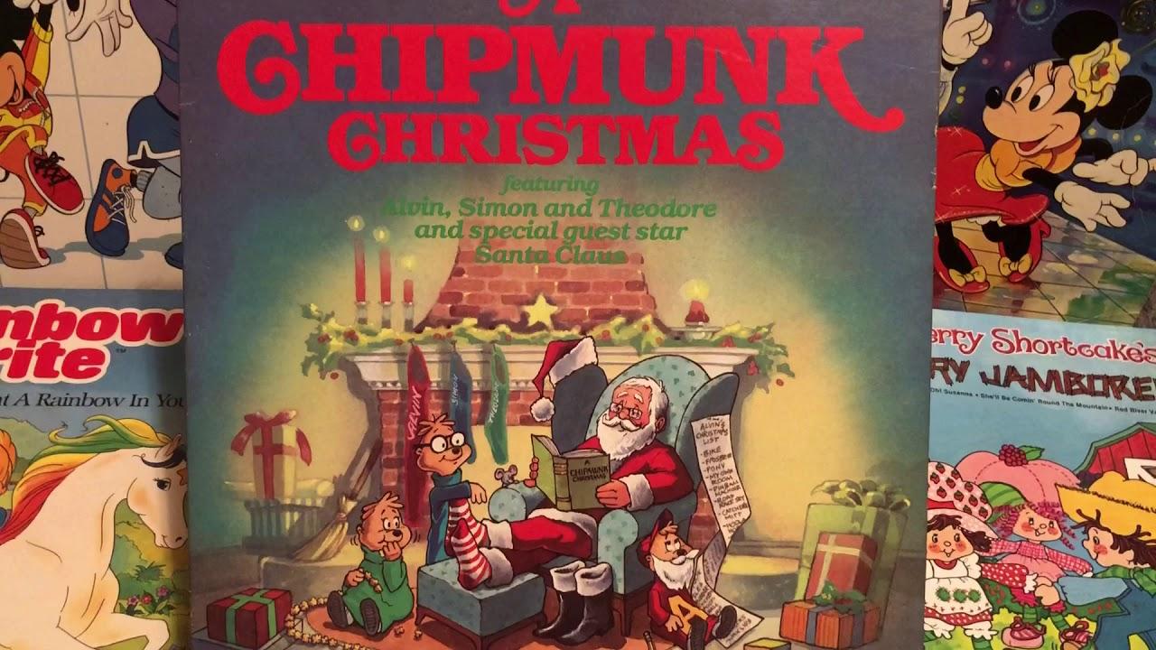 A Chipmunk Christmas Record Album Alvin Simon Theodore 1980s ...