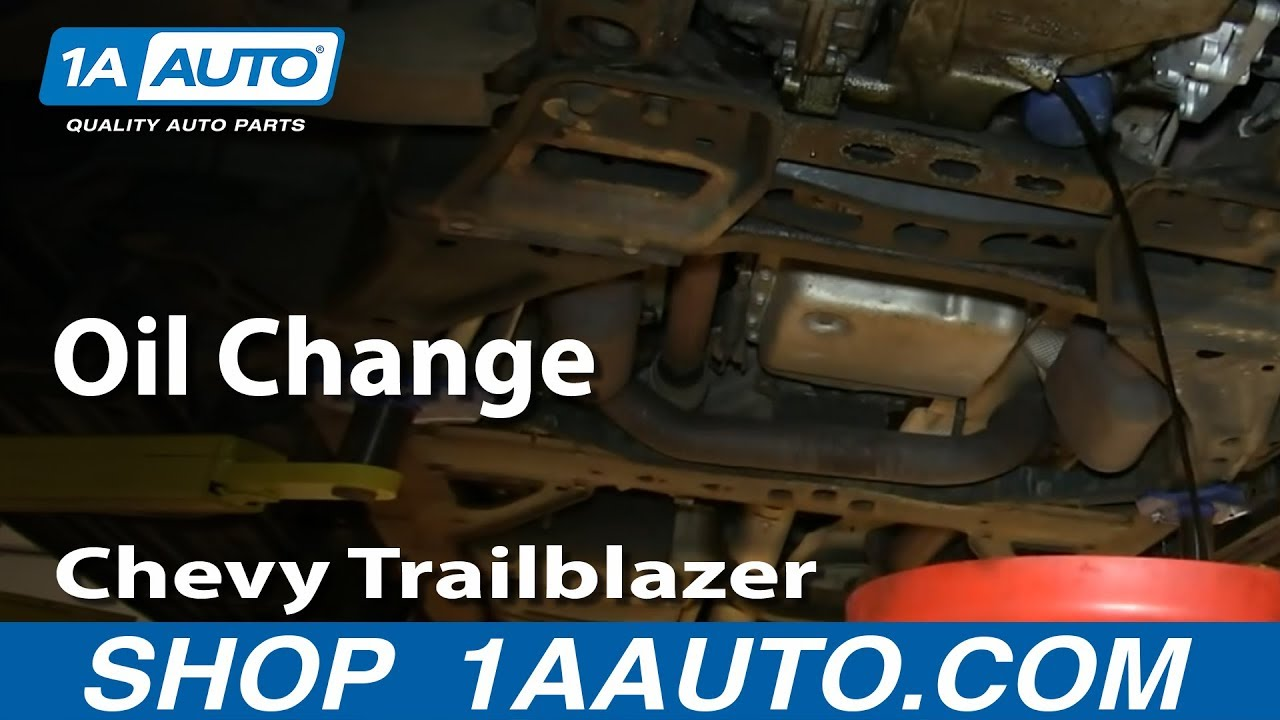 how to perform oil change 02-09 gmc envoy