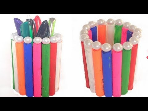 how to make a paper pencil holder||Paper Pencil Holder||Hexagonal Pen Holder||Craft Ghor