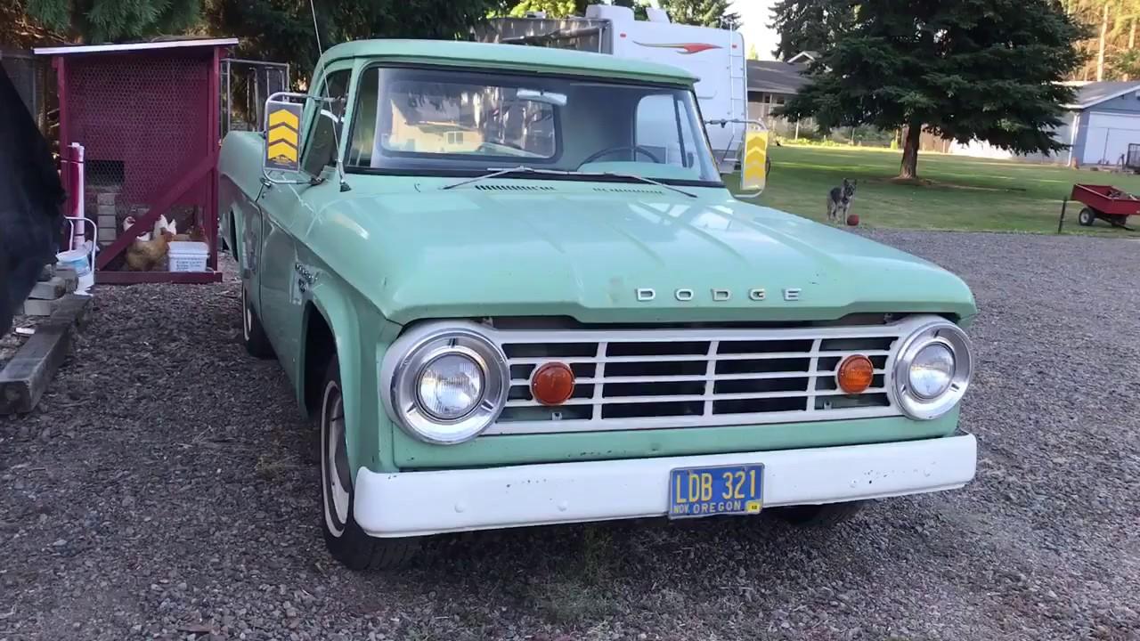 1966 Dodge D100 Pickup - Startup and Walk Around - YouTube