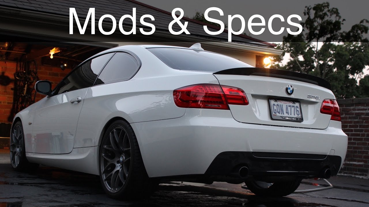 BMW 335i CURRENT MODS  SPECS  YouTube