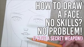 How to draw a face when you have no drawing skills - Easy Tutorial