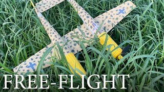 """Stunning Flights By 37"""" Rubber-Powered Arado E-530 Twin - Model Airplane"""